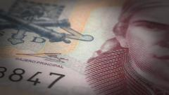Mexican Pesos Close-up Stock Footage