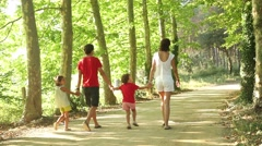 Family on vacations, happy and joy Stock Footage