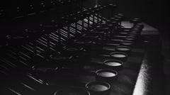 01770 707 Typewriter Desk 007 Camera 03 BlackWhite HD Stock Footage