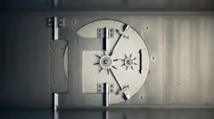 Opening Door Of Bank Vault. Business Wealth Lock - stock footage