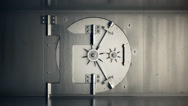 Stock Video Footage of Opening Door Of Bank Vault. Business Wealth Lock