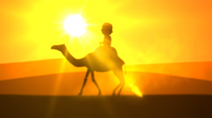 Tourist Enjoying Camel Ride. Vacations Travel Stock Footage