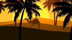 Tourist Enjoying Camel Ride. Vacations Travel - stock footage