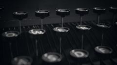 Typewriter Keys. Vintage Old Writer Book Stock Footage