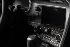 Multimedia car console Stock Photos