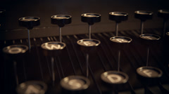 Typewriter Keys. Vintage Old Writer Book Stock Footage