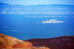 Alcatraz in san francisco bay. Stock Photos