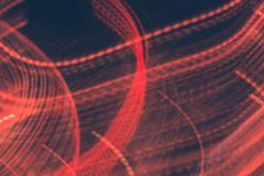 Abstract motion blur red lights photo. Stock Photos