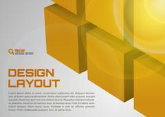 orange layout - stock illustration