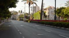 Deserted city road - stock footage