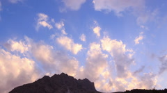 After sunset the night. Zoom. Pamir, Tazhikistan. TimeLapse. 1280x720 Stock Footage