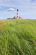 westerhever lighthouse - stock photo
