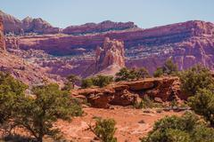 utah rock formation scenery. capitol reef national park, utah, united states. - stock photo
