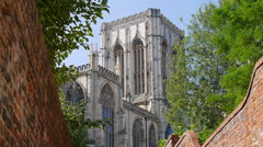 York Minster from alley Stock Footage