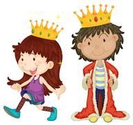 King and queen Stock Illustration