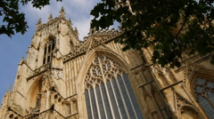 Minster under tree Stock Footage