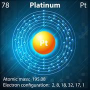 Platinum - stock illustration