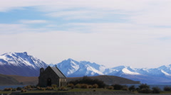 The church at lake tekapo timelapse Stock Footage
