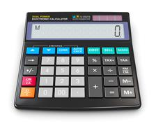 Office electronic calculator Stock Illustration
