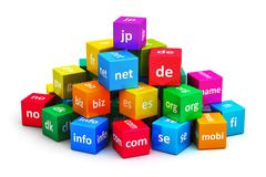 Internet and domain names concept - stock illustration