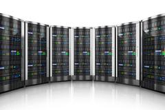 Row of network servers in data center Piirros