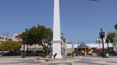 Puerto Rico - obelisk in small town plaza Stock Footage
