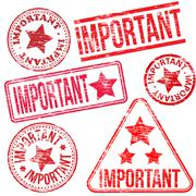 Important rubber stamps Stock Illustration