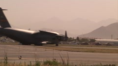 C-17 Globemaster delivers Afghan Ballot Delivery - stock footage