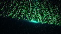 Digital binary data scan loop background Stock Footage