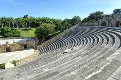 amphitheater, altos de chavon, la romana, dominican republic - stock photo