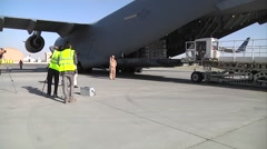 C-17 Globemaster delivers Afghan Ballot Delivery Stock Footage