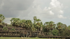 Pan Shot Angkor Wat Temple Stock Footage