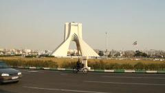Tehran Azadi Square Stock Footage