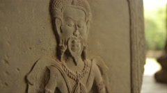 Single Figure Wall Carving - stock footage