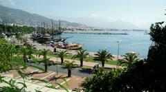 Stock Video Footage of 4K Alanya Turkey Turkish Tourist Paradise 1