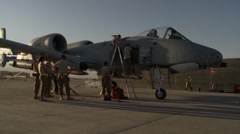 A-10 Thunderbolt II aircraft Stock Footage