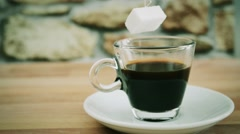 Coffee and sugar stopped Stock Footage