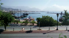 Stock Video Footage of 4K Alanya Turkey Turkish Tourist Paradise 4