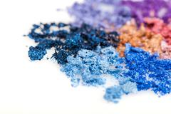 flower made of crumbled makeup eyeshadows - stock photo