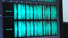 Audio editing  sound mix ,mixing vocal with a vocal in edit room Stock Footage