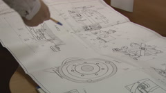 engineering drawing - stock footage
