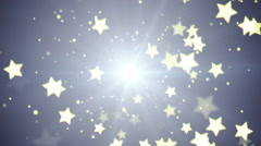 Flying stars loopable festive background Stock Footage