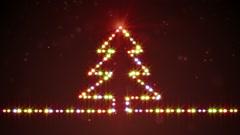 Christmas tree shape lights loopable Stock Footage