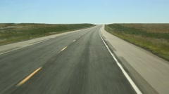 Driving POV on Isolated Prairie Highway Stock Footage