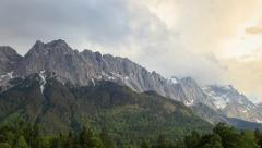 Zugspitze top of Germany Stock Footage