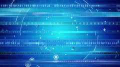 blue abstract techno loopable background - stock footage