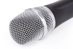 cordless microphone - stock photo