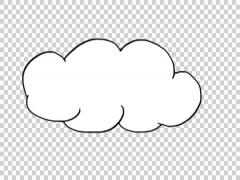 Cloud sketch whiteboard animation Stock Footage