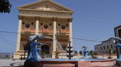 Freemason Masonic Lodge front facade - Arecibo, Puerto Rico. 2 Stock Footage