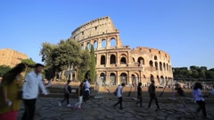 Colosseum as is on 2 of October 2014 Stock Footage